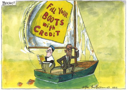 08.08.13: Martin Rowson on the new Bank of England governor