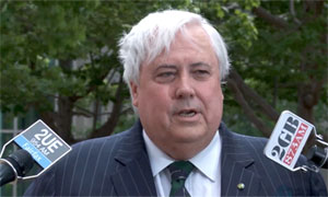Clive Palmer mocks government approach to bugging