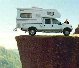 truck on edge