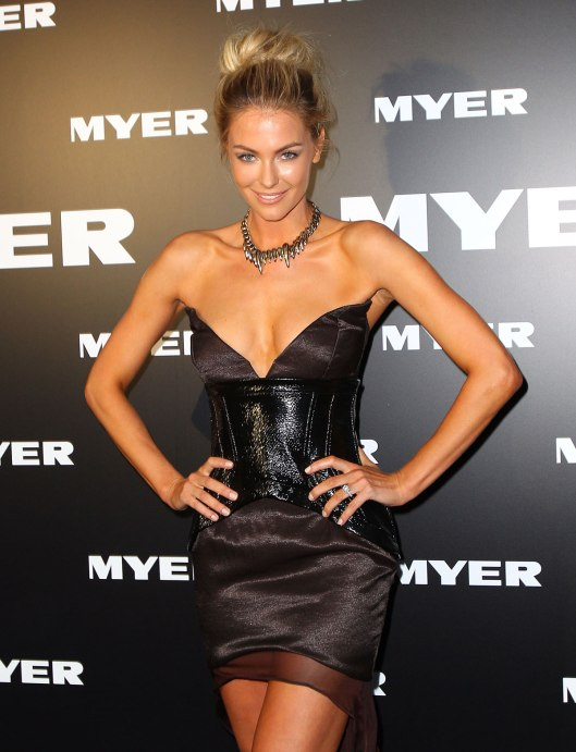 Jennifer Hawkins at Launch of Myer Autumn/Winter 2012 Collection